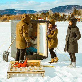 La pêche sur glace dans la Baie